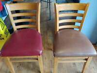 JOB LOT 20 CAFE/RESTAURANT CHAIRS 16/17 GOOD CONDITION 3/4 NEED A BIT TLC COST OVER £1000 NEW £12