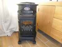 Provence Portable Coal Effect Gas Heater Stove Fire + Empty 15kg Gas Bottle