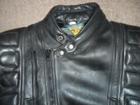 leather bikers jacket 38 chest