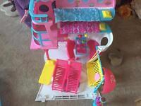 Barbie and ship and Disney princess bundle