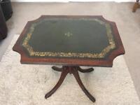 Leather top tilt table