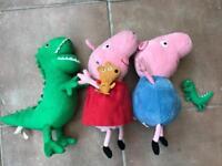 Peppa Pig, George Pig and Dinosaur Plush Dolls