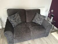 4 piece suite. Charcoal grey chenille. Only 8 months old. Excellent condition.
