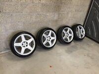 18'' Mercedes AMG ALLOYS 5x112 fit vw golf Jetta passat seat Leon Vauxhall vectra Astra etc