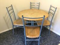 x1 round dining table + 4 dining chairs