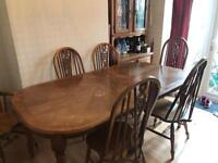 6 chair pine table Need Gone ASAP