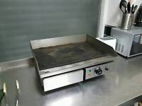 Commercial electric grill plate