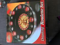 DRINKING ROULETTE SET AND ROULETTE GLASSES