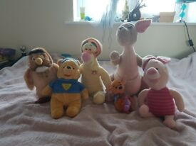 6 Disney Winnie the pooh and friends soft toys