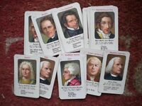 RARE 52 PIECE CARD SET FAMOUS PEOPLE MAINLY FROM MUSIC FROM 1700s / 1800s