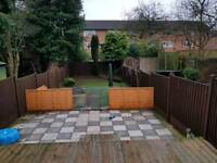 x3 6ft by 4ft Fence Panels new condition