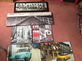 Pictures and large canvases for sale