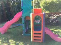 Little Tikes Tropical Playground Climbing Frame Slides