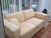Beautiful high quality cream double sofa bed