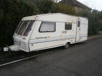 bessacar gainsborough 5/6 berth caravan late 90s spares or repairs in yeovil