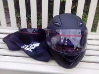 Motorbike helmet Leo 818 black +dark visor
