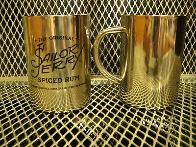 THE ORIGINAL SAILOR JERRY Tattoo Rum ~ SET of 2 ~ NEW ~ Cups Mugs Moscow Mules