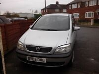 Vauxhall zafira 7 seater no cold callers