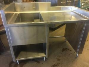 Stainless Steel Commercial Table with Sink