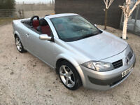Renault Megane convertible Diesel - 6 speed Service History, Leather seats Air con - 17 Alloy wheels