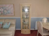 DISDISPLAY CABINET, 3 SHELVES AND DOOR *IMMACULATE NEW CONDITION* *BARGAIN*