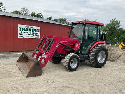 2011 Mahindra 5010 4x4 Hydro 50hp Compact Tractor W Cab Loader 1400hrs