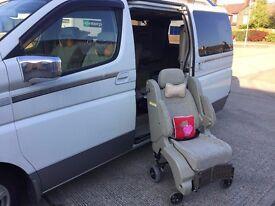 Nissan Elgrand E51 MPV, Camper, Disable wheelchair access, 7 seater, power door, reverse camera, dvd