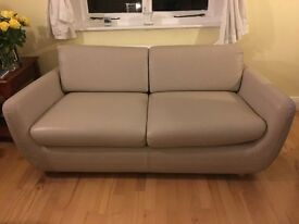 Habitat 3 seater leather sofa and leather arm chair. Excellent condition. £750 ono