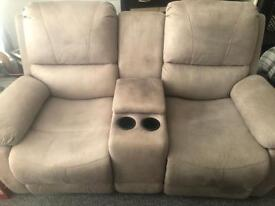 Two seater recliner centre console