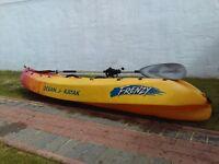 Frenzy Ocean Kayak w/ paddle + cord + life jacket