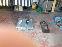 240 volt electric tile cutter +manual tile cutter +2 bags of cement