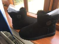Ugg Black mini bailey button boots uk size 3.5