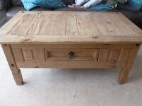 Corona coffee table with drawer
