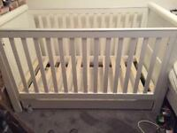 Morhercare cot bed with drawer