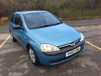 2002 (02) VAUXHALL CORSA CLUB 1.7 DI 3 DOOR HATCH DIESEL NEW MOT AND SERVICE
