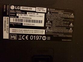 TV LG 49 inch smart 4k broken screen