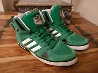 Adidas casual (Hi-tops), Green/White Size 8.5UK