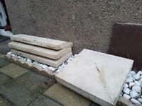 Garden Wall Coping Stones x 3 & Pier Caps (Post Copes) x 3