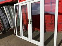 Upvc French patio doors with sidelights man cave shed summerhouse home office gym bar hot tub 2400mm