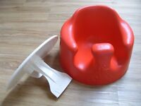 Red bumbo baby seat with tray