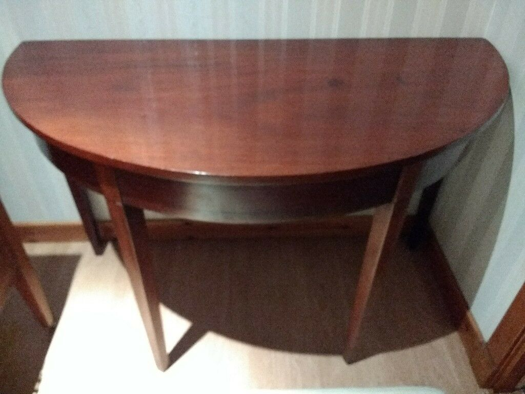 Large Half Moon Demi Lune Dining Kitchen Table Solid