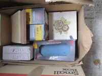 Large box of kitchen and bathroom tiles