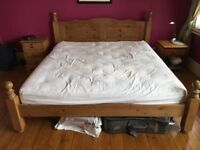 Super Kingsize Solid Pine Bed with Mattress
