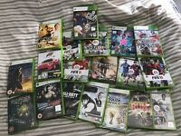 A bundle of games on Xbox 360
