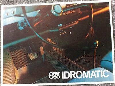 Fiat 850 Idromatic 1967 UK Market Foldout Sales Brochure