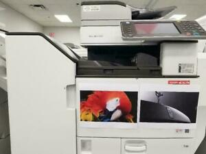 Pre-owned Ricoh MP C5502 Color Laser Multifunction Printer Copier Scanner Finisher 11x17,Print, Copy, Scan , 55PPM.