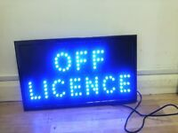 Off Licence sign