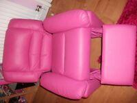 Girl Pink Recliner Chair