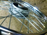 HONDA C90/70 REAR WHEEL..NEAR MINT..