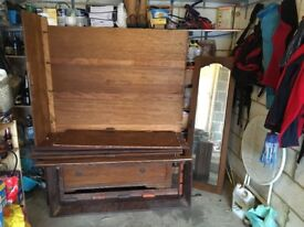 Wooden large wardrobe. Needs to be re-assembled